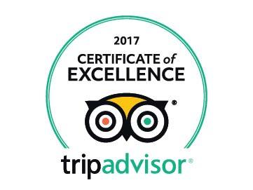 Certificato di eccellenza Tripadvisor 2017