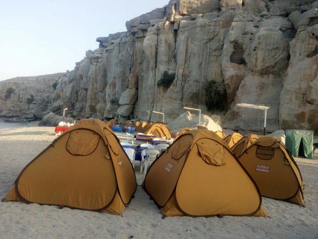 Campeggio in spiaggia di notte Khasab Musandam Crociere-1