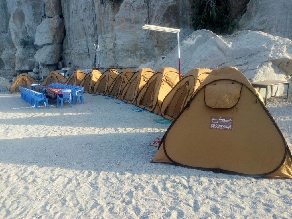 Campeggio in spiaggia di notte Khasab Musandam Crociere-2