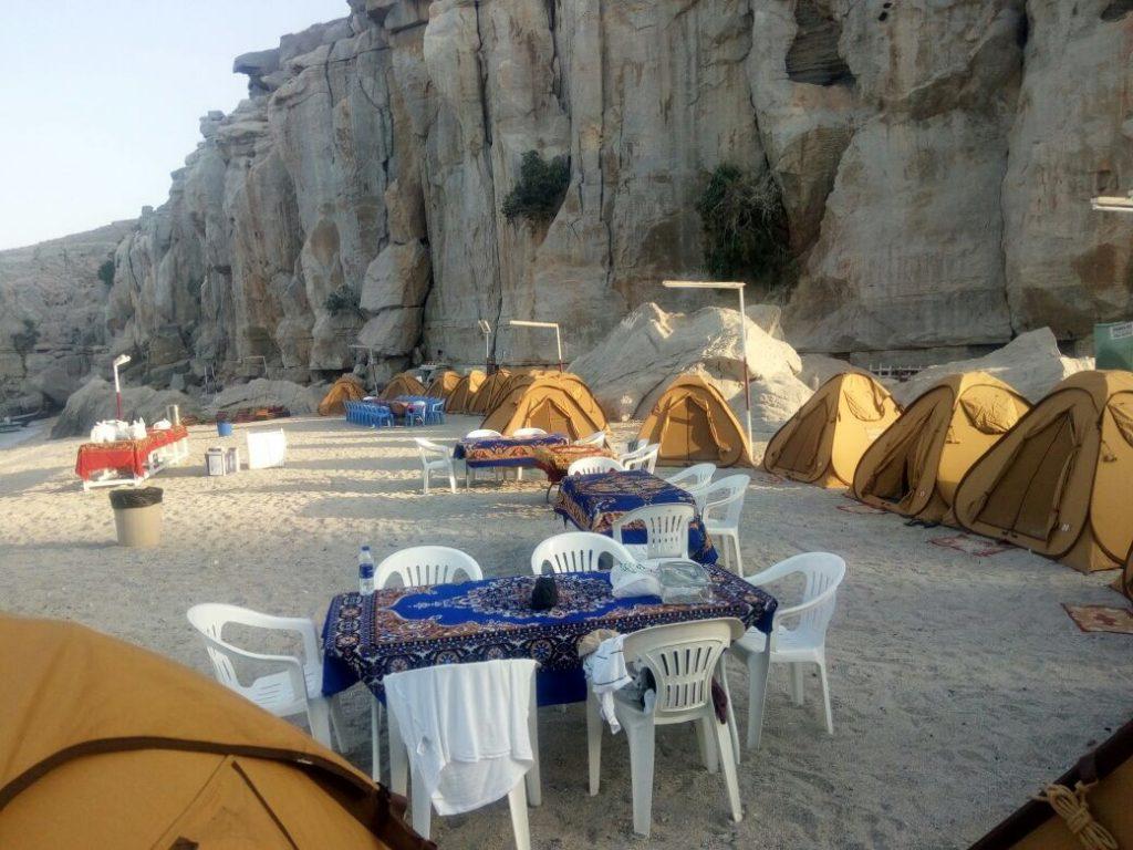 Campeggio in spiaggia di notte Khasab Musandam Crociere-5