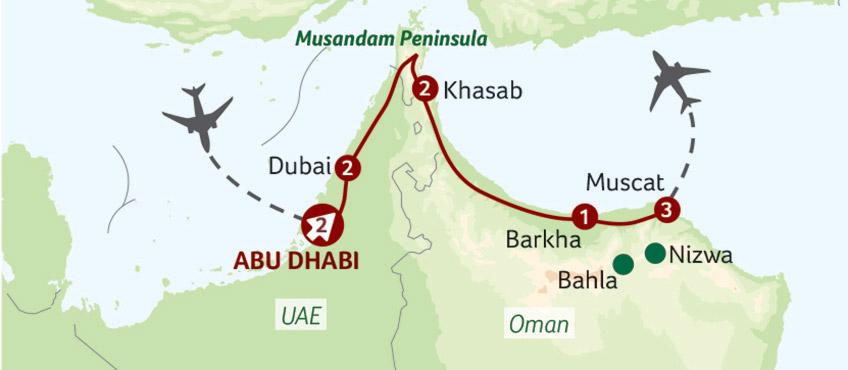 Mappa Oman
